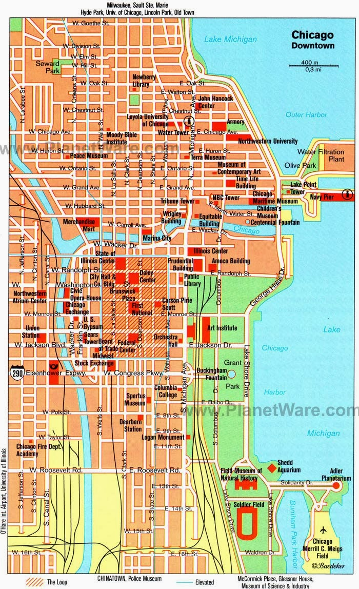 CityPlanningNewscom Some Things To Do In Chicago - Chicago hotels map
