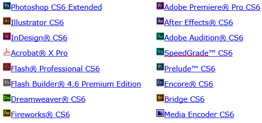 Adobe Software Products