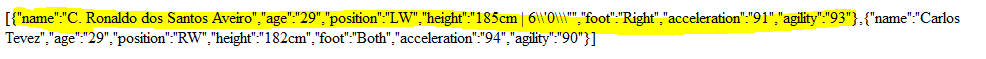 JSON Output.