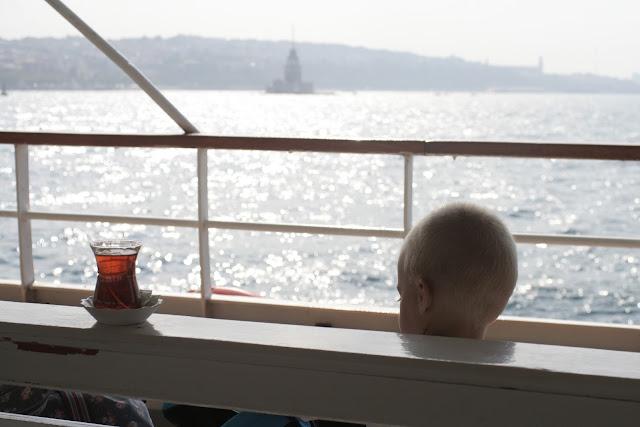 Tea for me on the boat to Kasımpaşa.