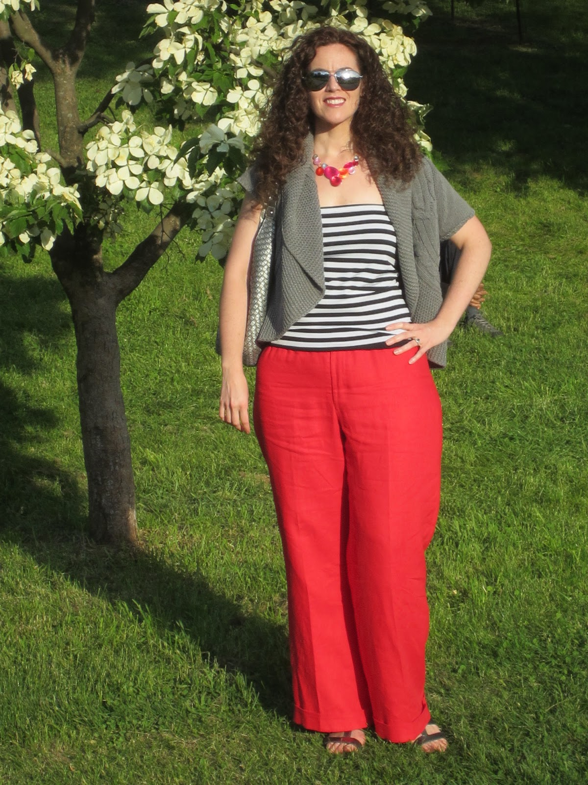 Clio & Phineas: Red Linen Pants Reveal!