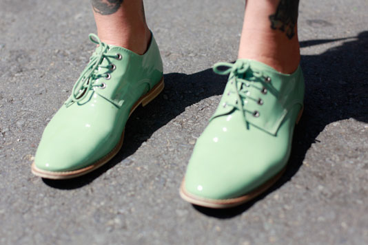 Mint Green shoes street style