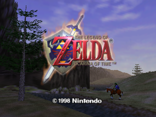 Legend of Zelda Ocarina of Time title screen logo