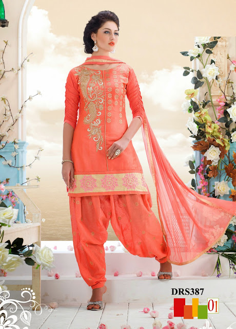 Purchase Cotton Patiala Style Dress Material