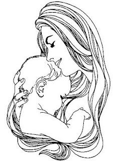 Desenhos do dia das mães para colorir