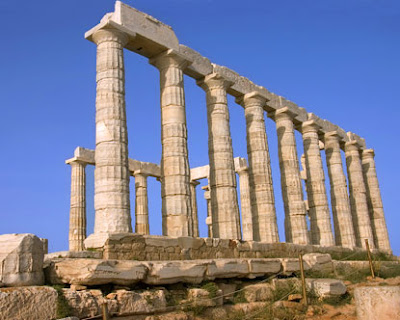 Temple of Poseidon, Sounion, yunani