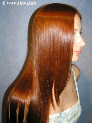 USA girl with Silky tresses