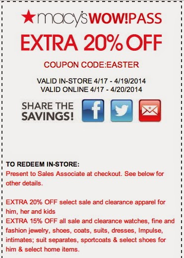 Macy's Printable Coupon