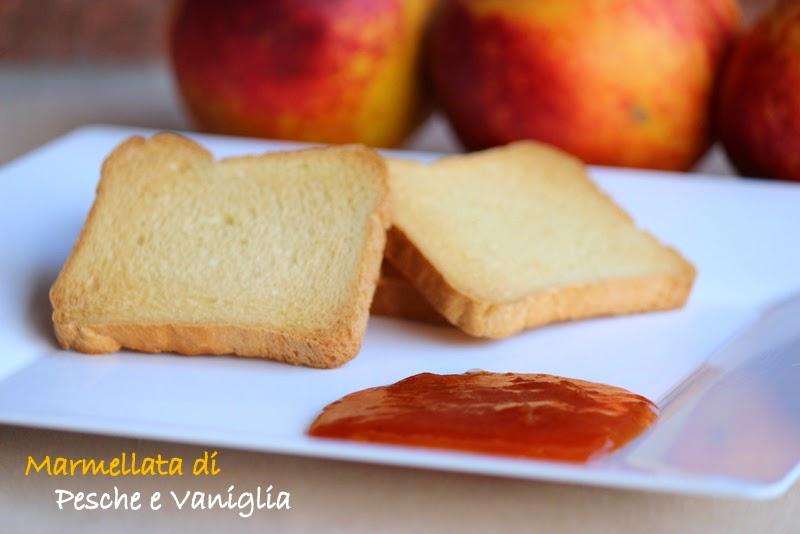 marmellata di pesche e vaniglia