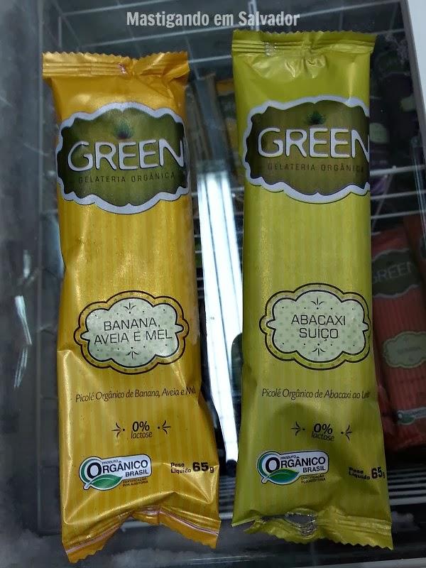 Green Gelateria Orgânica: Picolés nos sabores Banana, Aveia e Mel e Abacaxi Suíço
