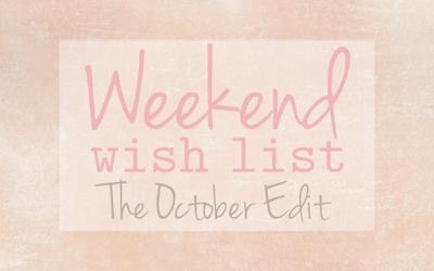 Weekend Wish List – The Best of 2015