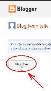 cara membuat blog baru di blogspot