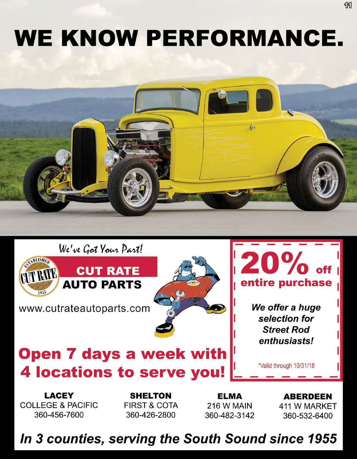 Cut Rate Auto Parts 20% Off Entire Purchase!!