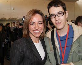 Con Carme Chacón
