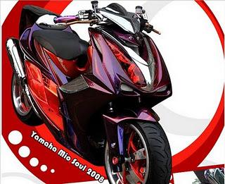 Gambar Modifikasi Motor Mio Soul Terbaru