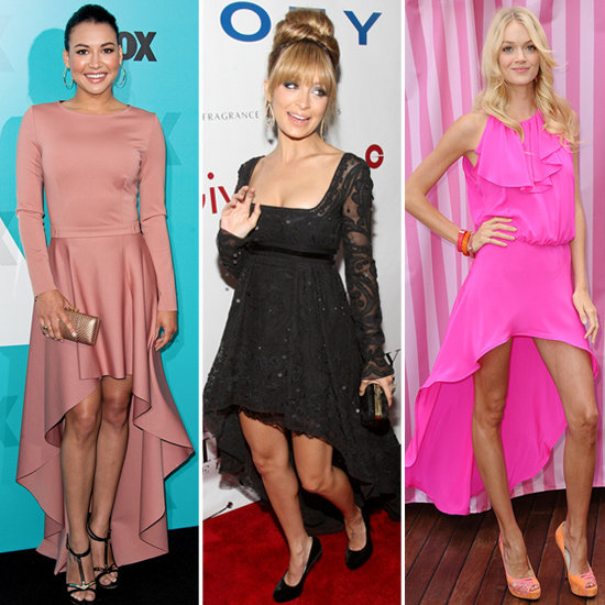 celebrities in high low dresses-pink-high-low-dress-black-high-low-dress