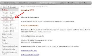 Download software discador e Firmware