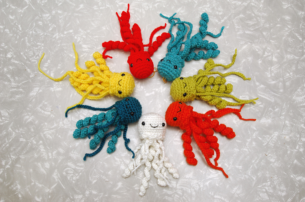 Crochet octopuses