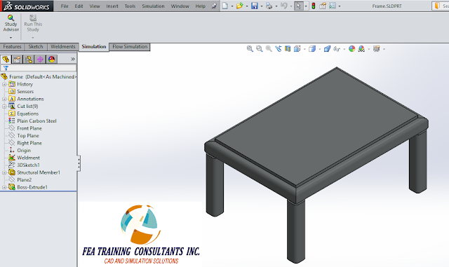 welded structure solidworks simulation