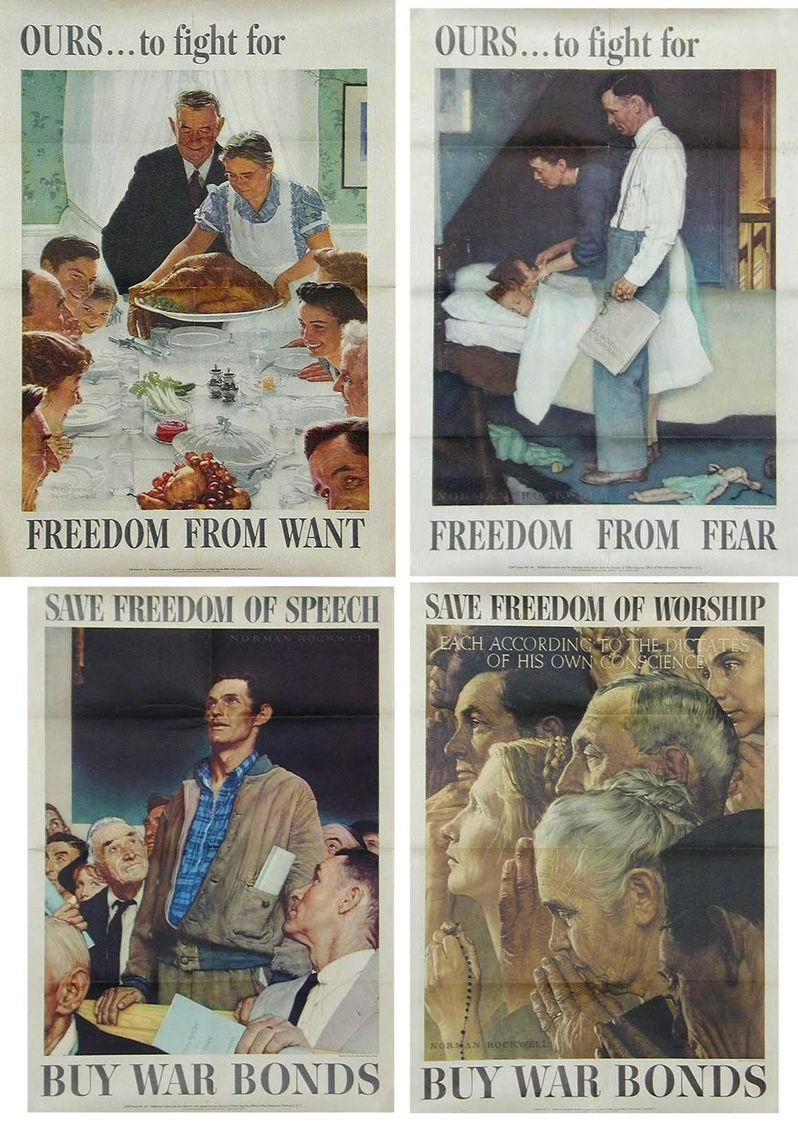 Mr. MintArt: Four Freedoms Posters