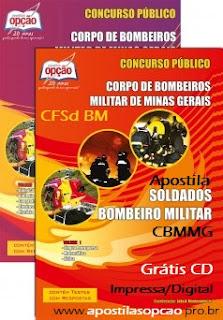 Apostila Bombeiros MG Soldado CFSd-BM 2016/2017.