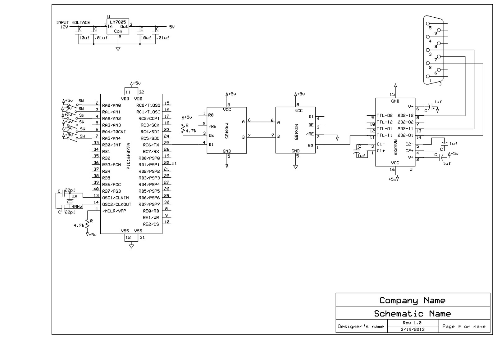 rs 232 connector schematic rs free engine image for user manual