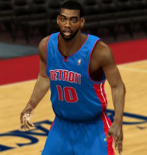 NBA 2K13 Greg Monroe Cyber Face Update