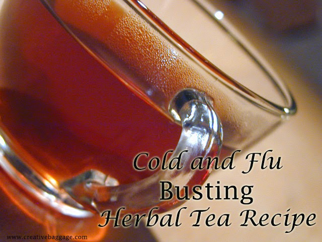 cold and flu busting homemade herbal tea recipe