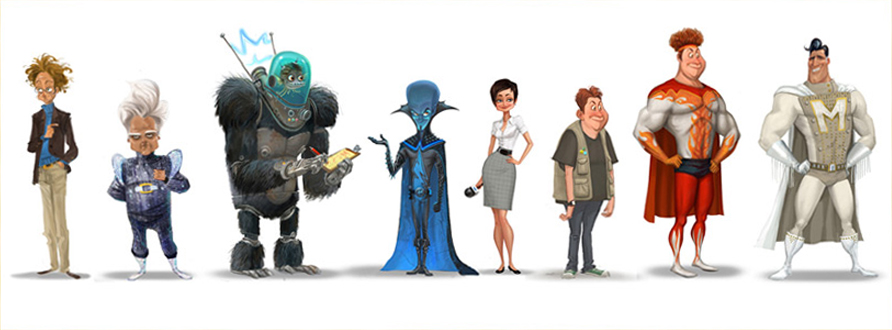 Character Design Dreamworks : Living lines library megamind concept art other