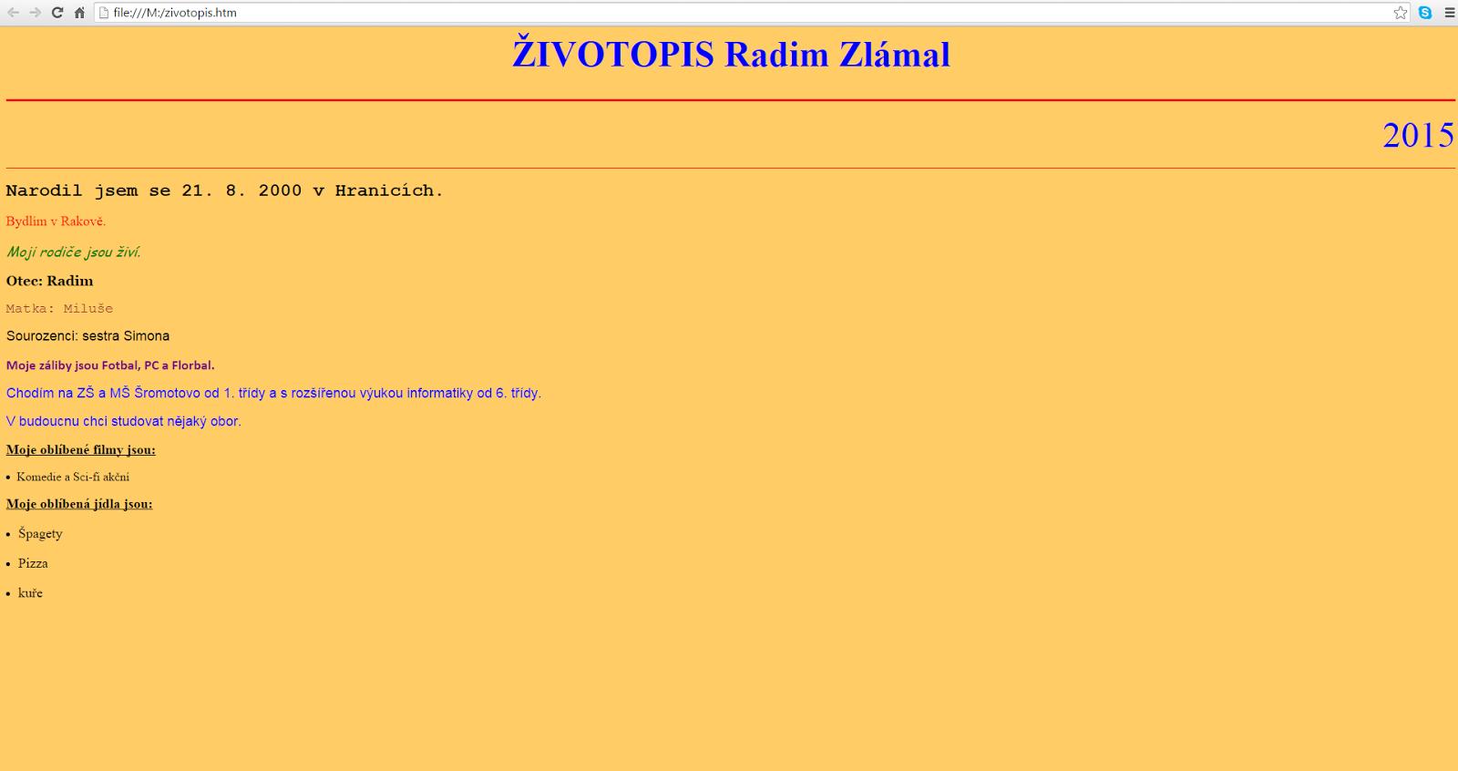 Zlamal Informatika Zs A Ms Sromotovo Html Zivotopis Bez Fotek