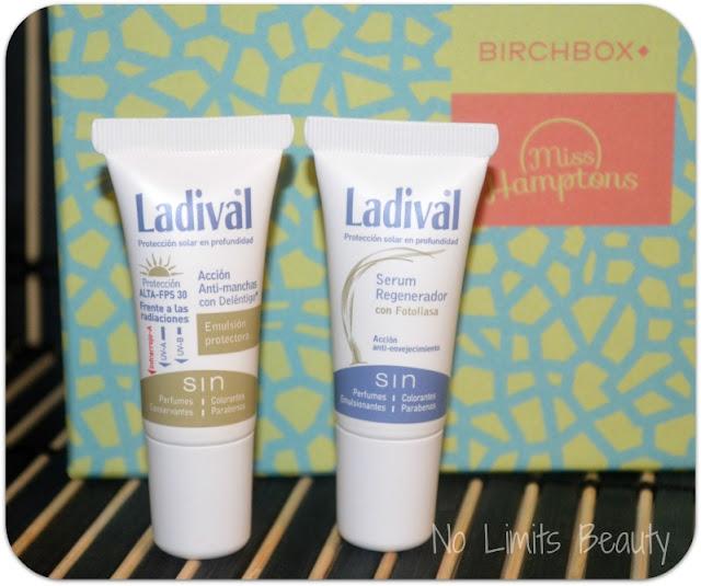 BirchBox Julio 2015 - Ladival - Protector Solar SPF30 y Serum regenerador