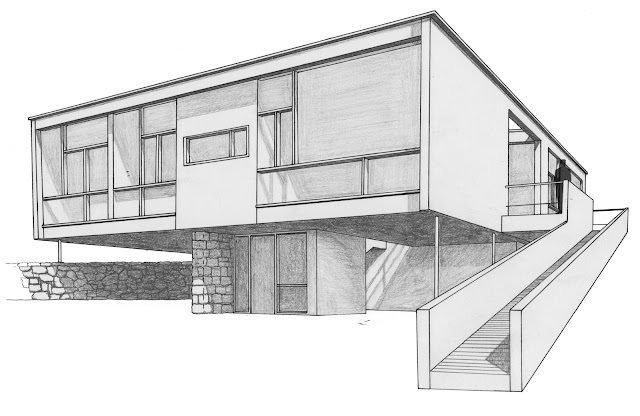 La forma moderna en latinoam rica casa seidler sidney for Architecture modern house design 2 point perspective view