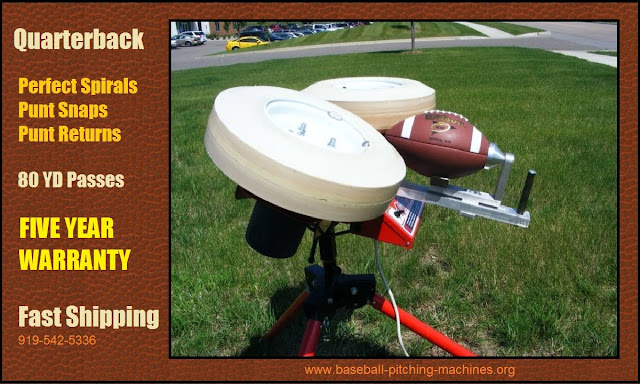 Football Throwing Machine - Perfect Spirals Up To 80 Yards