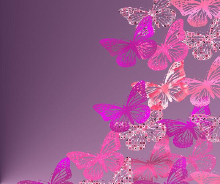 Pink Butterfly Wallpaper: Wallpaper Bluos: Butterfly Wallpaper