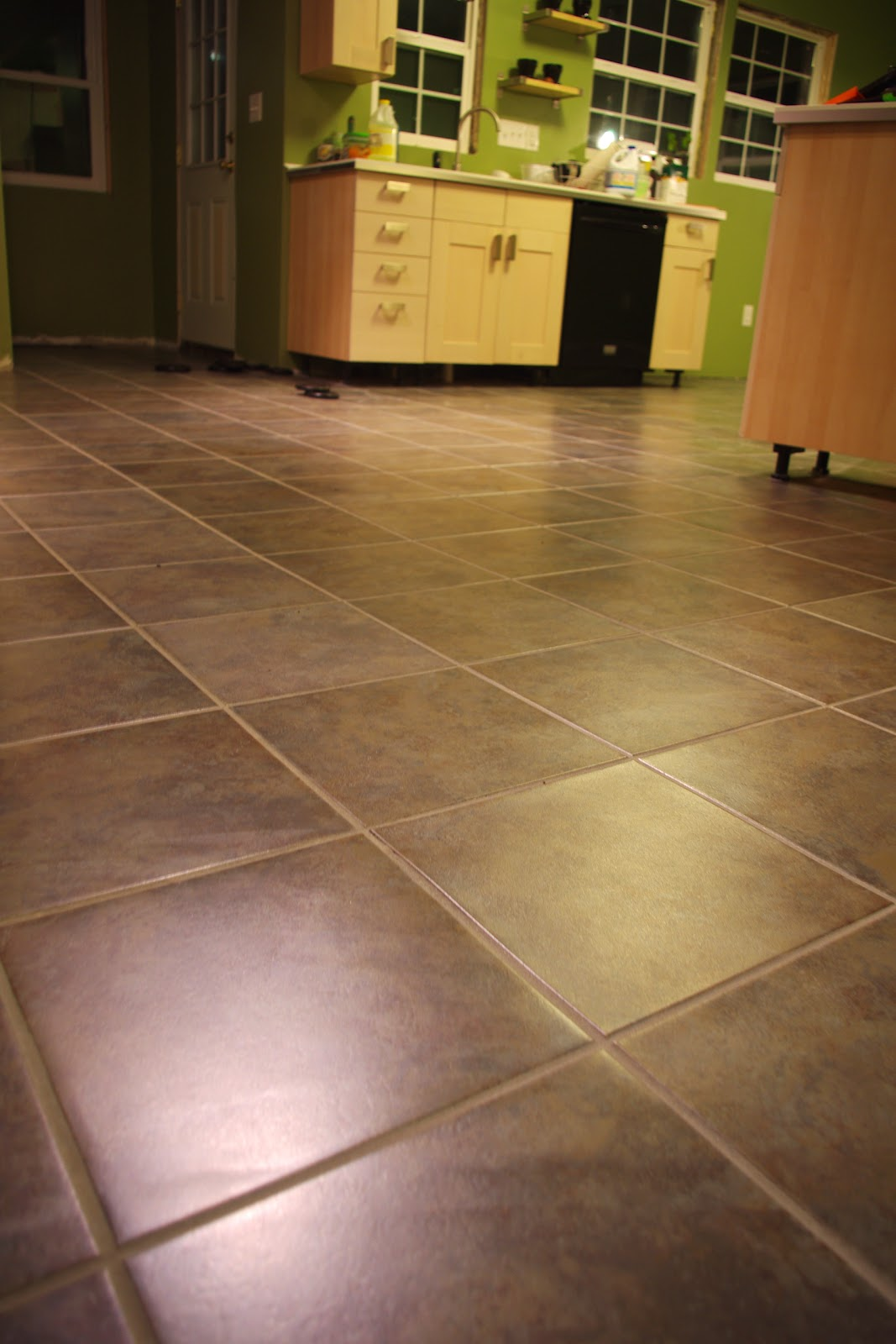 Dan jess diy luxury vinyl tile for Kitchen flooring