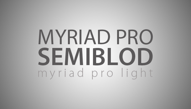 Adobe Myriad Pro Free Download
