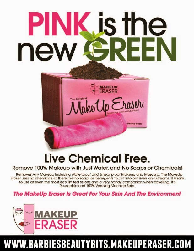 The Makeup Eraser,  eco-friendly cloth removes ALL of your makeup with only water, by barbies beauty bits