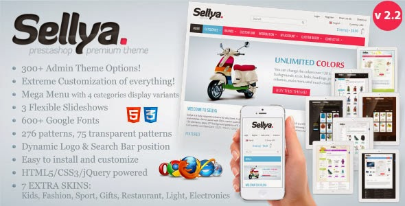 SELLYA - THEMEFOREST RESPONSIVE PRESTASHOP THEME