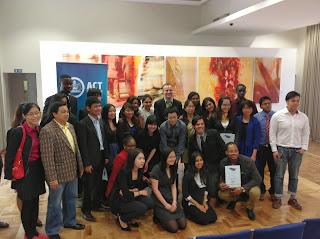 Group of graduating ACT International Student Ambassadors