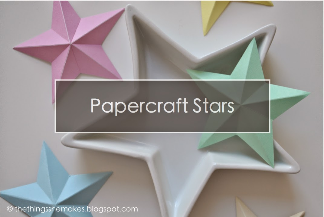 How to make 3d paper stars the things she makes for How to make 3d paper stars easy