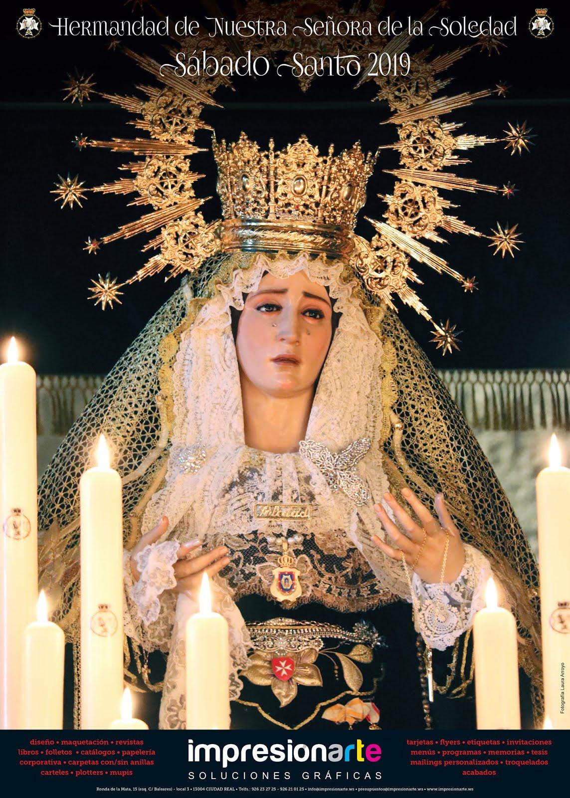 Cartel de la Hermandad de Nuestra Señora de la Soledad 2019