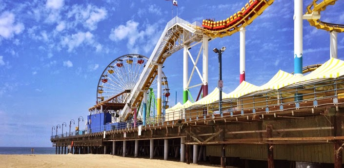 Santa Monica Pier California by Jessica Mack aka SweetDivergence