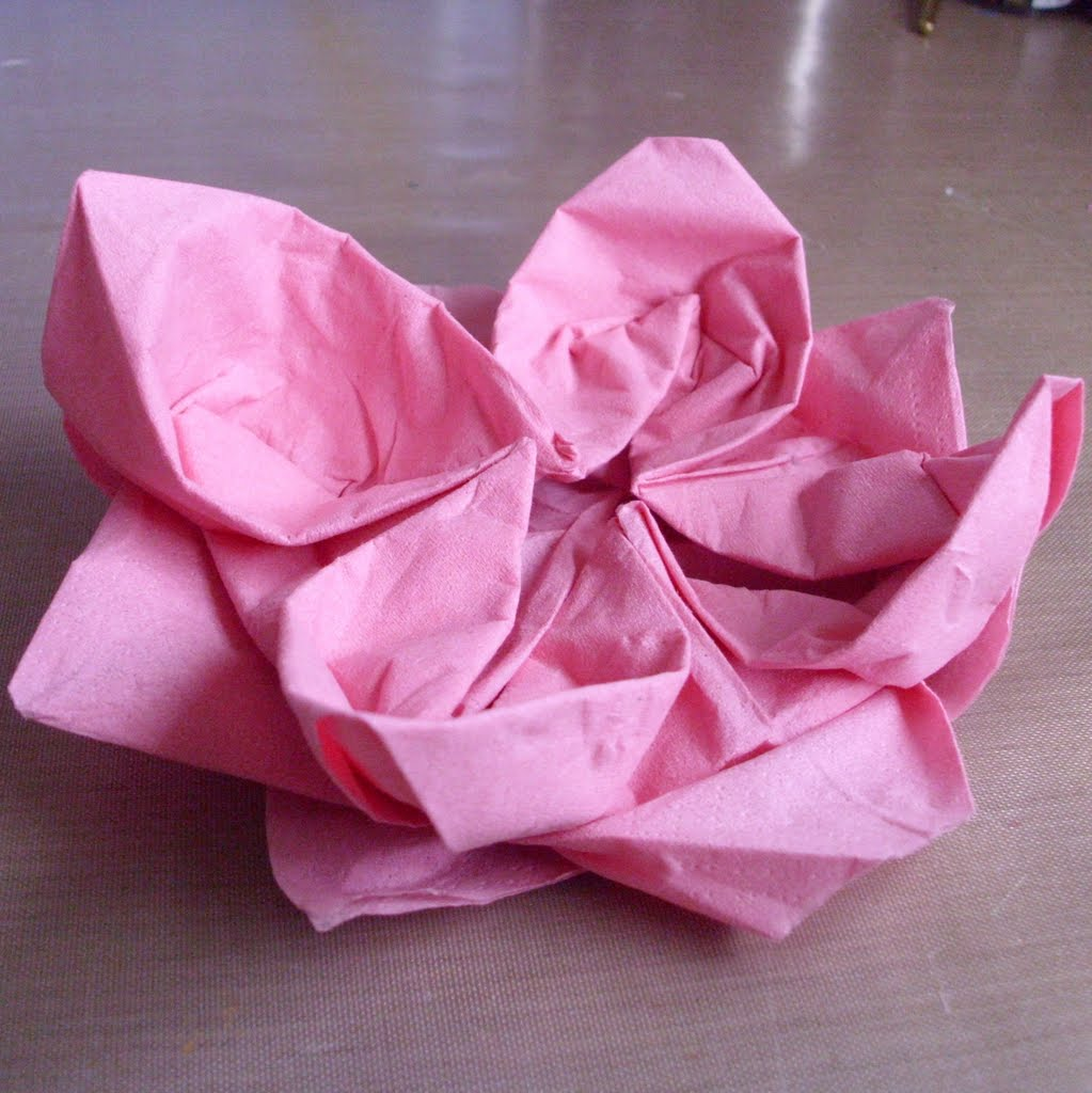 Lotus Napkin Fold Easy : Before you go, why not check out my recipes index page , or my craft