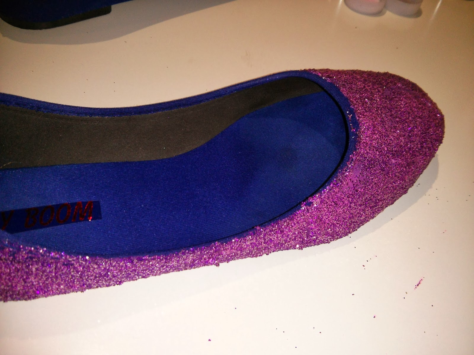 Primera capa de purpurina