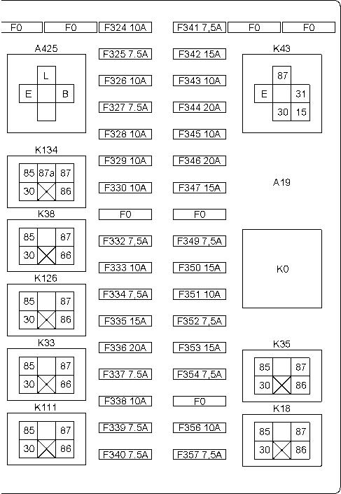 Схемы монтажных блоков с
