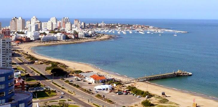 Playas de Punta del Este, Uruguay,  viajes y turismo