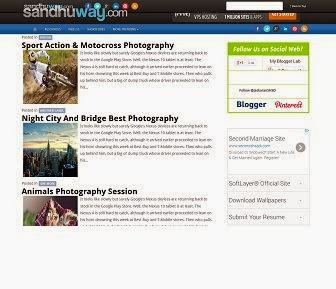 SandhuWay Blog Template