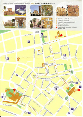 Map of Ravenna Monuments in Centro Storico