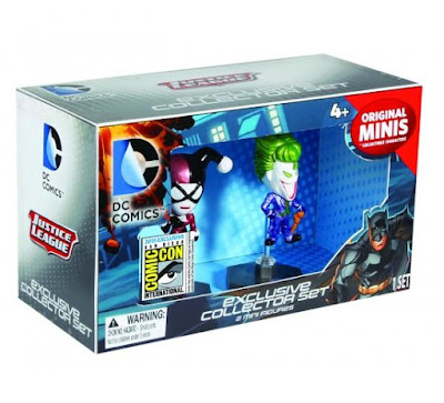 San Diego Comic-Con 2015 Exclusive DC Comics Original Minis Chrome Variant Vinyl Figure Box Set - The Joker & Harley Quinn