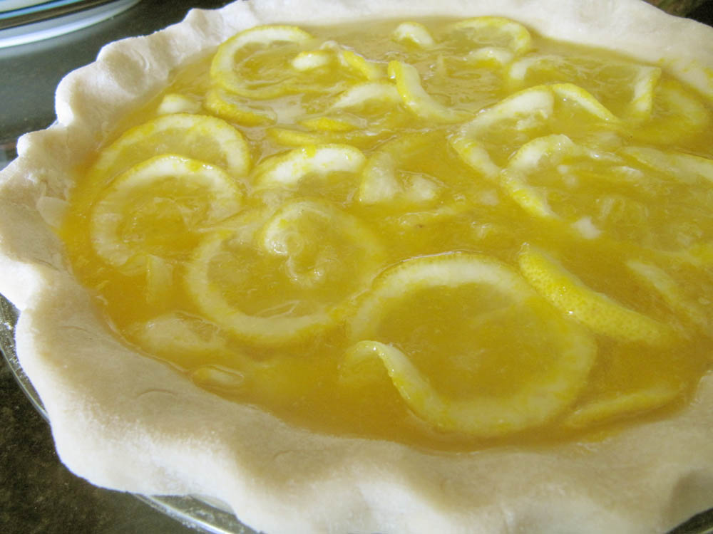 shaker lemon pie 2 large lemons 2 cups superfine sugar